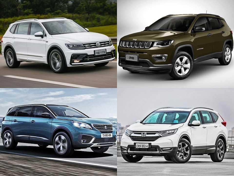 Montagem com VW Tiguan, Peugeot 5008, Honda CR-V e Jeep Compass