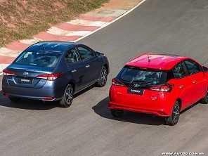 Toyota aumenta preços de Yaris e Corolla, de novo