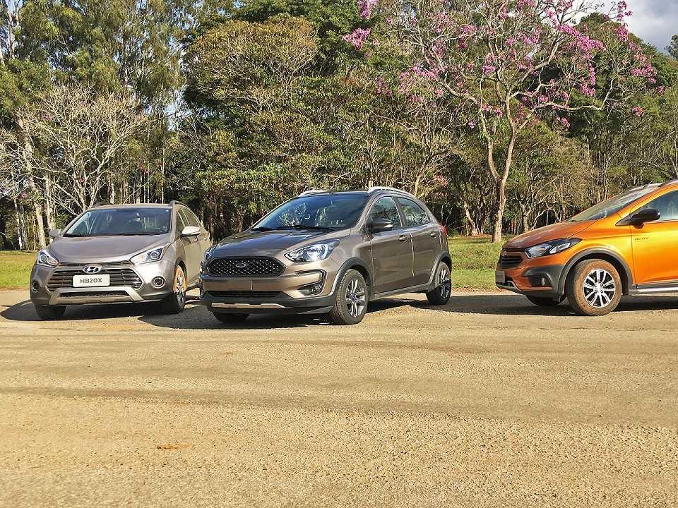 Novo Ford Ka Freestyle versus HB20X e Onix Activ
