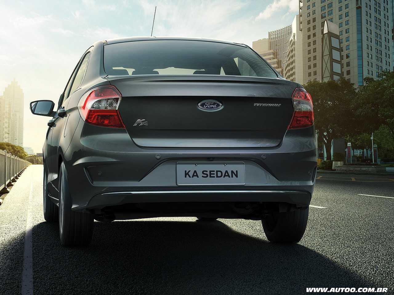 FordKa Sedan 2019 - ângulo traseiro