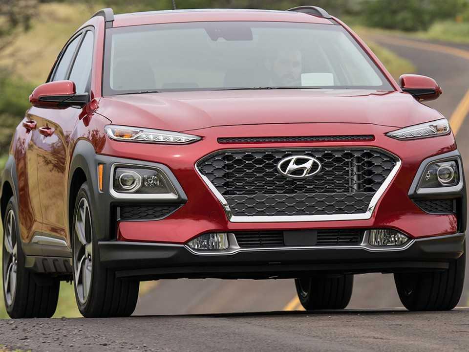 Acima o Hyundai Kona vendido nos EUA, um bom exemplo da nova safra de SUVs da marca sul-coreana