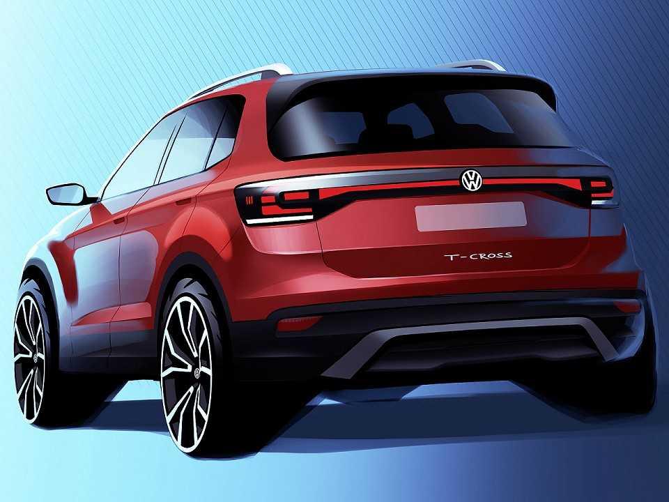 Primeira ilustração oficial do Volkswagen T-Cross, SUV compacto que será fabricado no Brasil