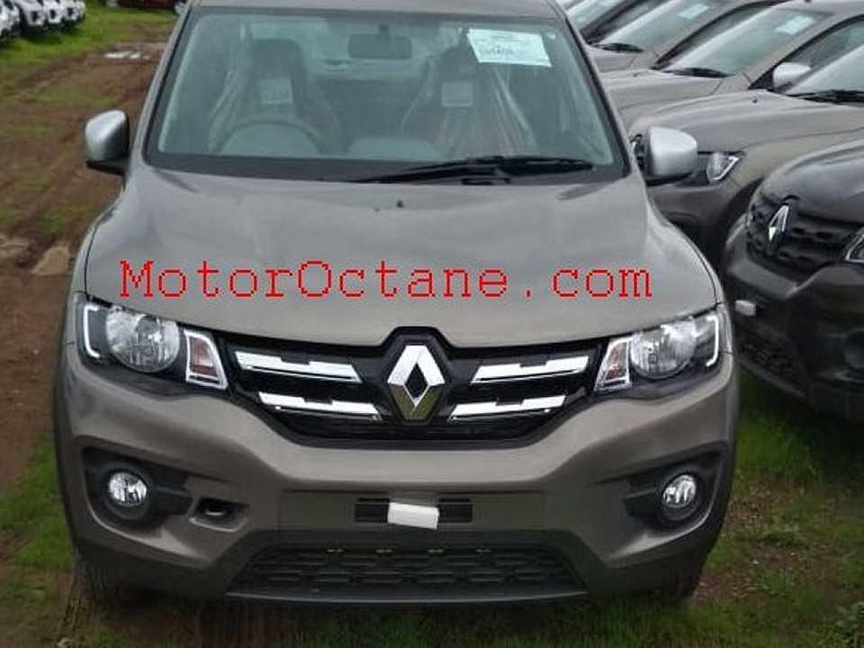 Acima a atualização visual que o Renault Kwid vai receber na Índia