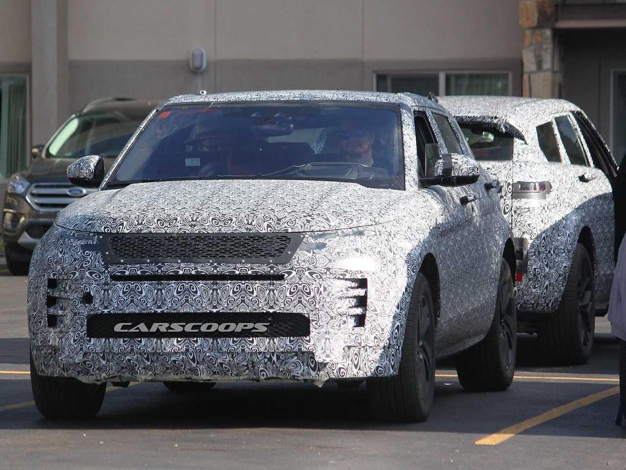 Flagra de um leitor do Carscoops revelando a nova geração do Range Rover Evoque