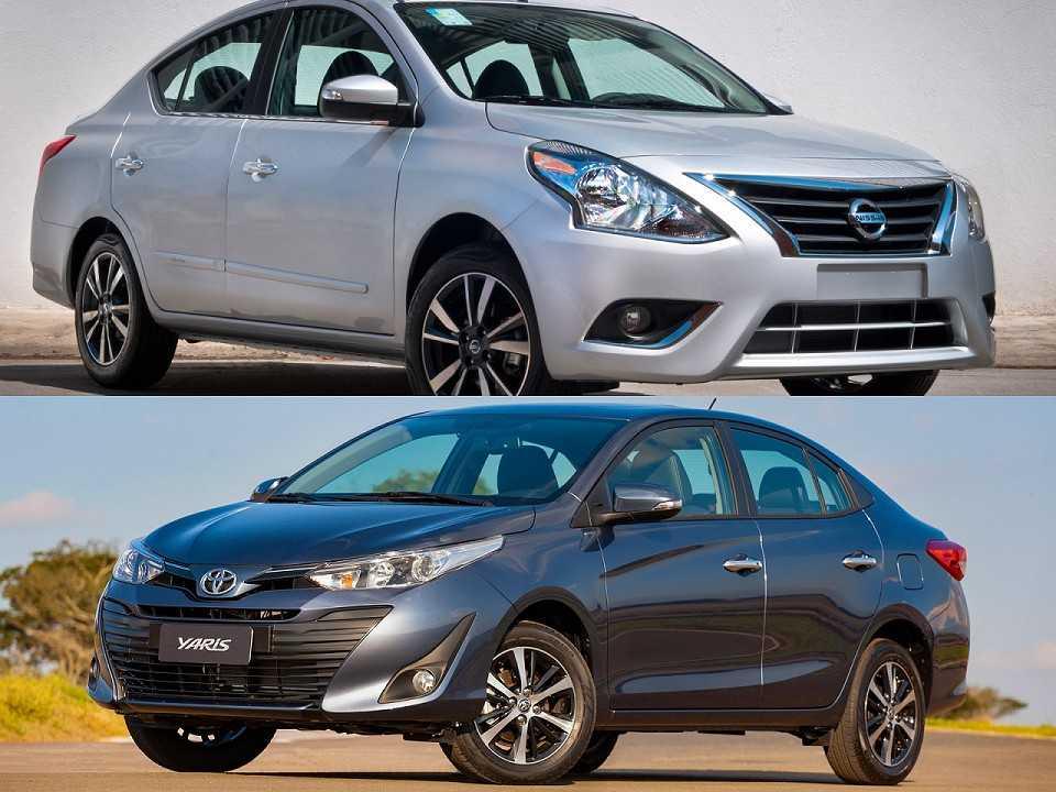 Nissan Versa e Toyota Yaris Sedã