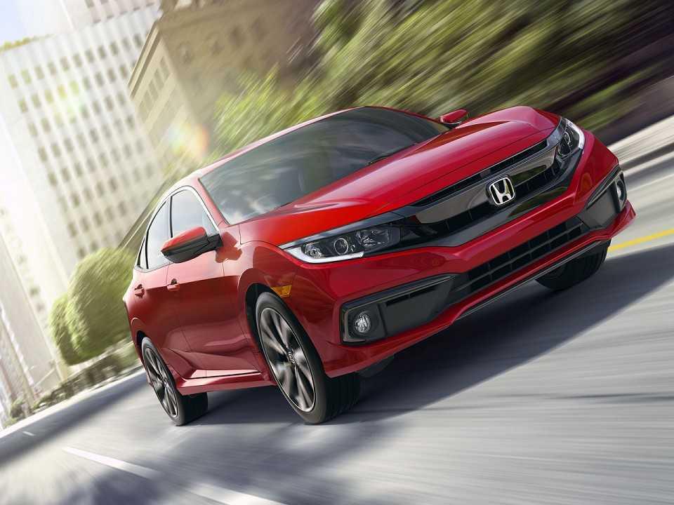Acima o Honda Civic 2019 vendido nos EUA
