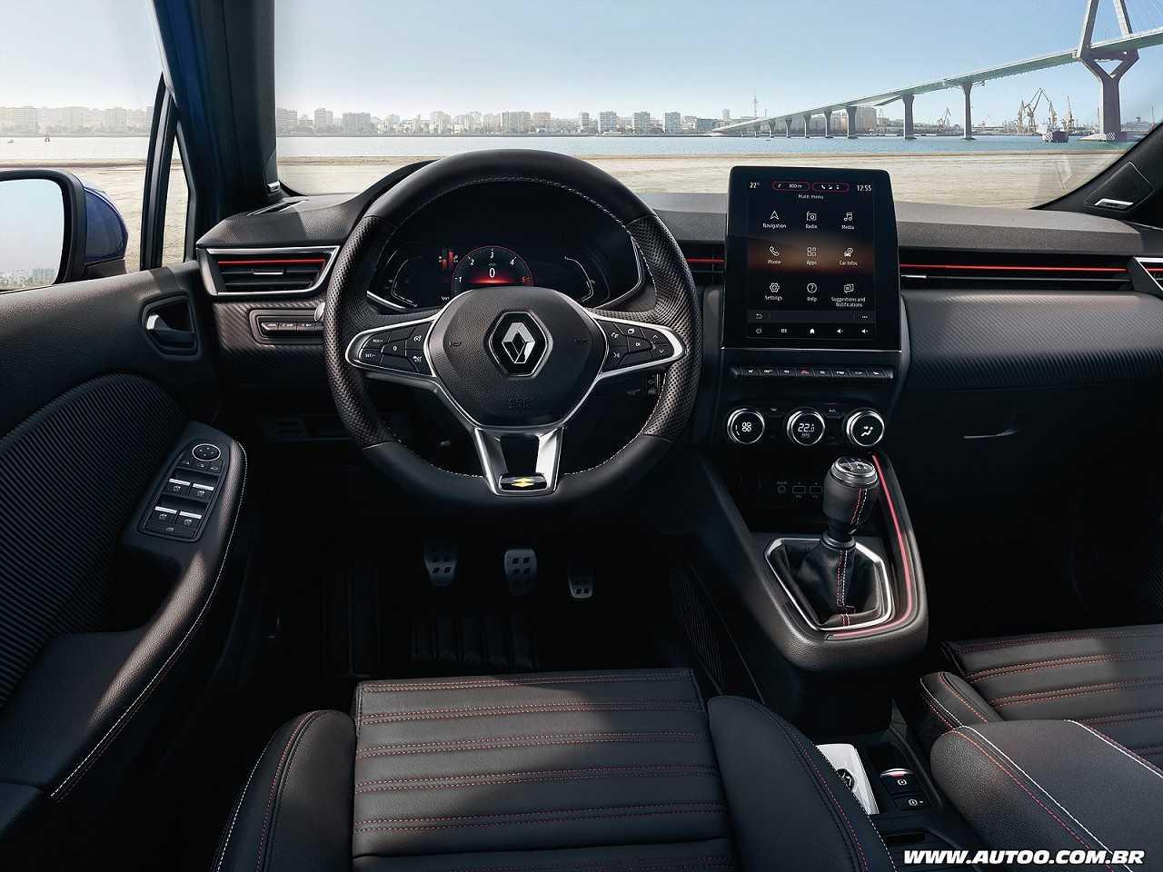 Interior da quinta geração do Renault Clio na Europa