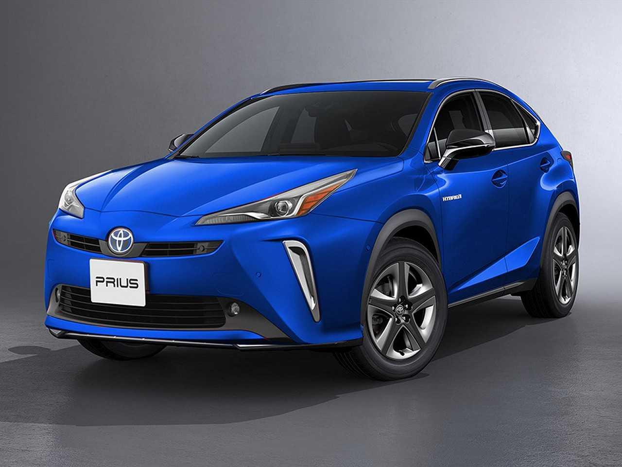 Projeção de Kleber Silva antecipando a possível quinta geração do Toyota Prius