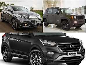 Renegade diesel 2018, um Creta Prestige 2019 ou um HR-V 2019?