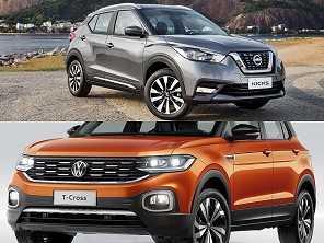 SUVs de R$ 100.000: comprar um Kicks SL ou esperar o VW T-Cross?