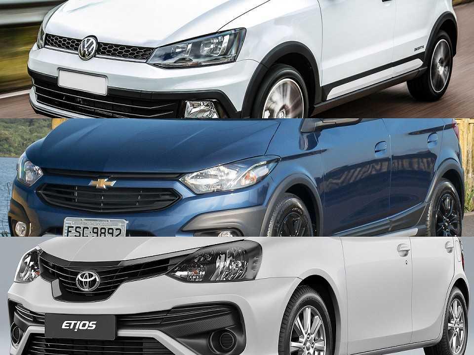 VW Fox, Chevrolet Onix e Toyota Etios