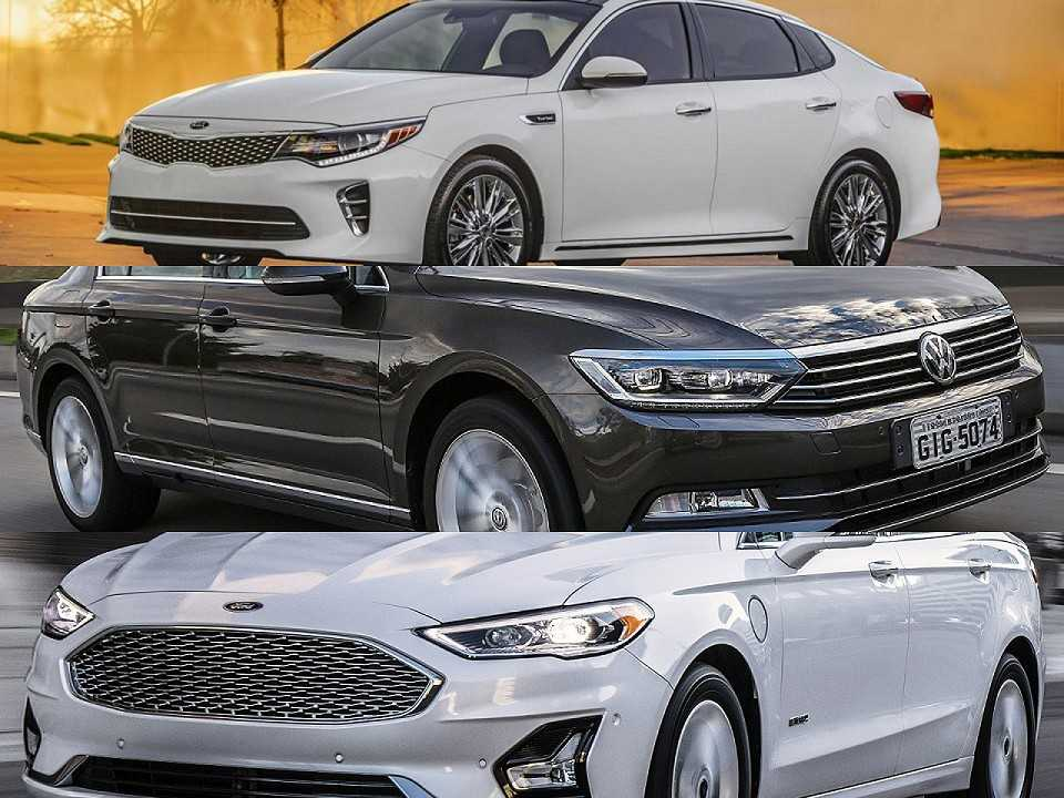 Kia Optima, VW Passat e Ford Fusion