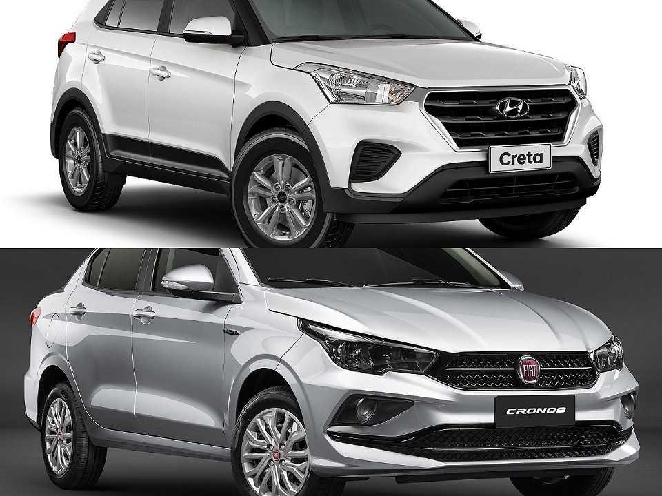 Hyundai Creta e Fiat Cronos