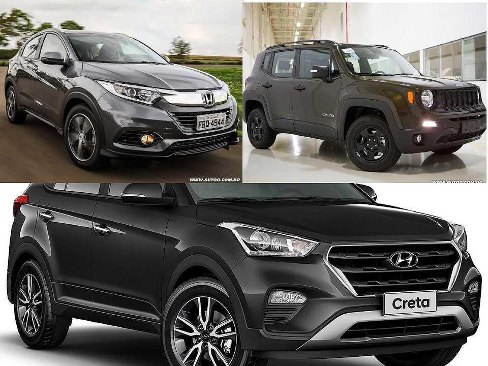 Honda HR-V, Jeep Renegade e Hyundai Creta