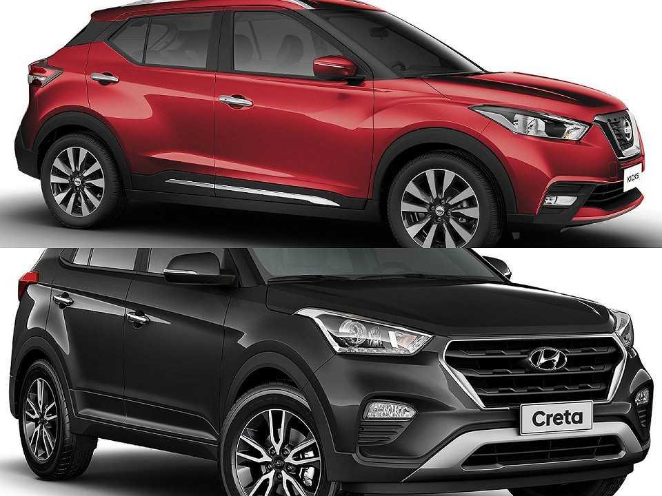 Nissan Kicks e Hyundai Creta