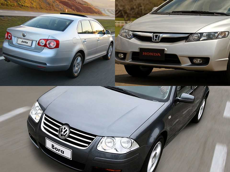 VW Jetta, Honda Civic e VW Bora