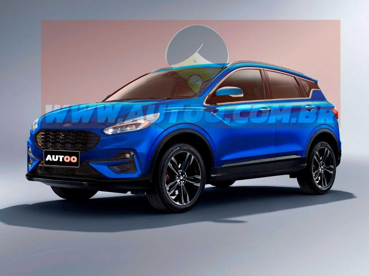 Projeção artística para o novo EcoSport, que pode ser desenvolvido pela Ford e a Mahindra