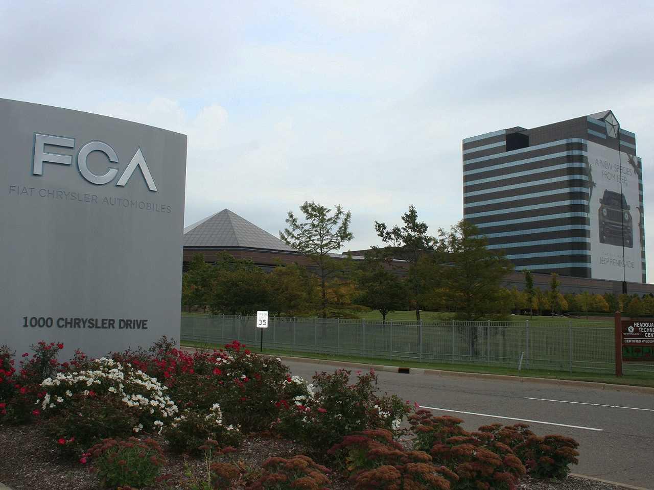 Fachada do Chrysler World Headquarters and Technology Center, localizado em Auburn Hills (EUA)