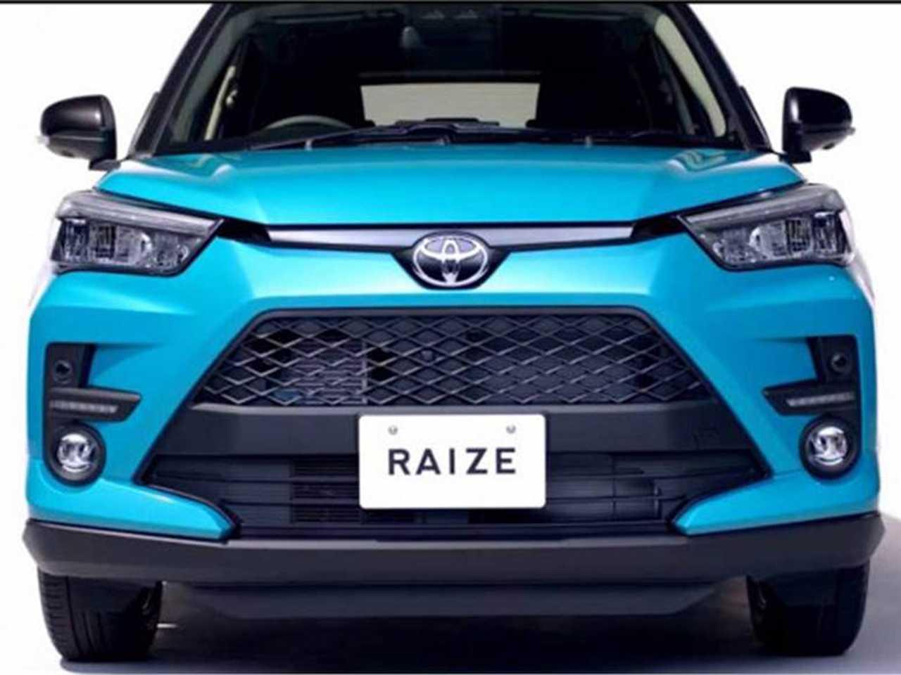 Dianteira do futuro Toyota Raize: inspiração em outros SUVs da marca como o RAV4