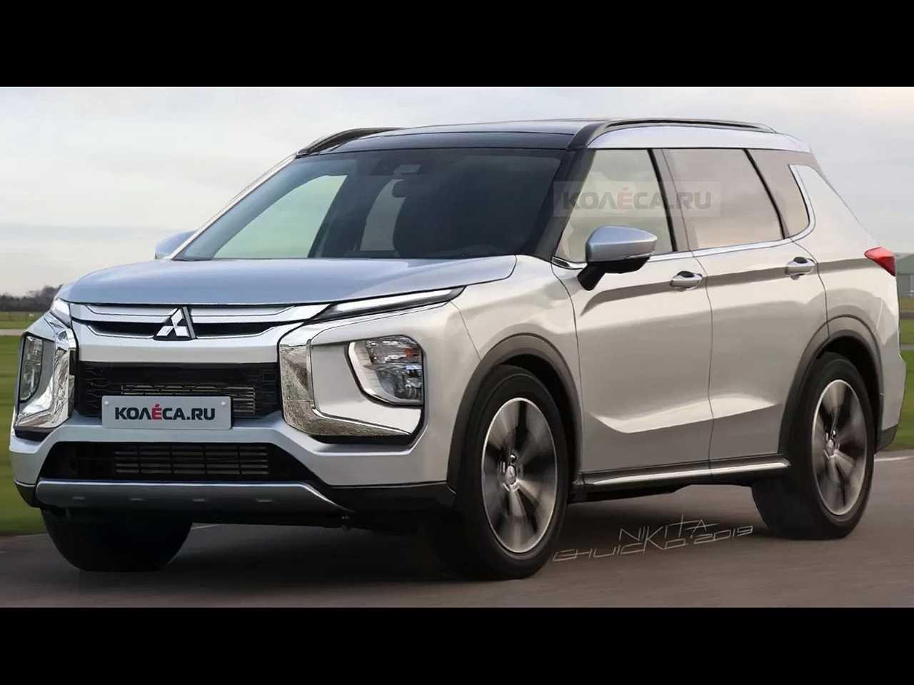 Projeção do site russo Kolesa sobre a nova geração do Mitsubishi Outlander