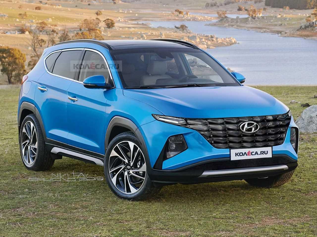 Projeção do site russo Kolesa sobre a nova geração do Hyundai Tucson