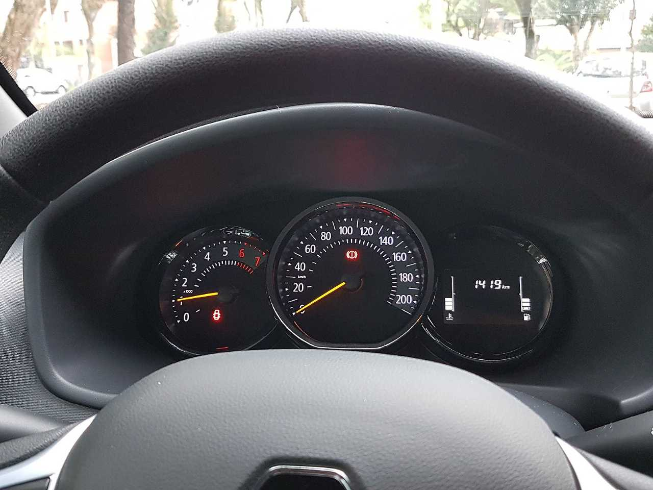 RenaultSandero 2020 - painel de instrumentos
