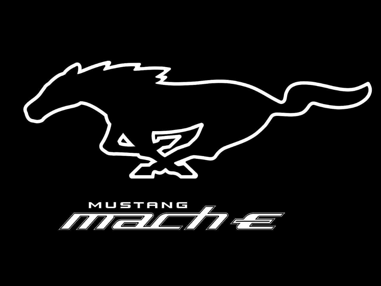 Logotipo do inédito Ford Mustang Mach-E