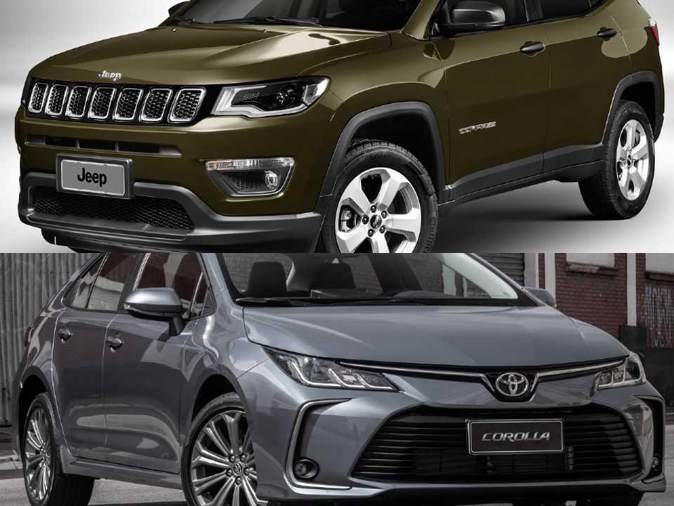 Jeep Compass e Toyota Corolla