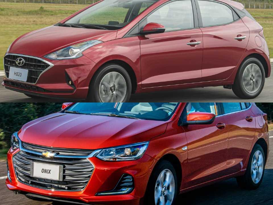 Hyundai HB20 2020 e Chevrolet Onix 2020