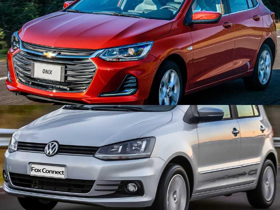 Chevrolet Onix e Volkswagen Fox