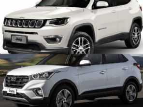 Jeep Compass de entrada ou um Hyundai Creta topo de linha?