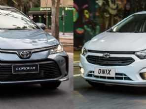 Onix ou Corolla: qual foi o carro mais buscado em 2019?