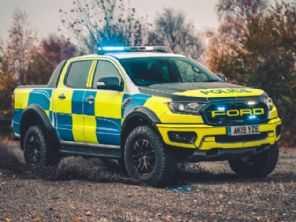 Ford Ranger Raptor vira viatura no Reino Unido