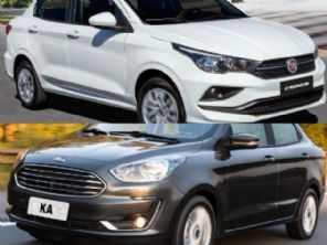 Sedans compactos: Fiat Cronos ou Ford Ka Sedan?