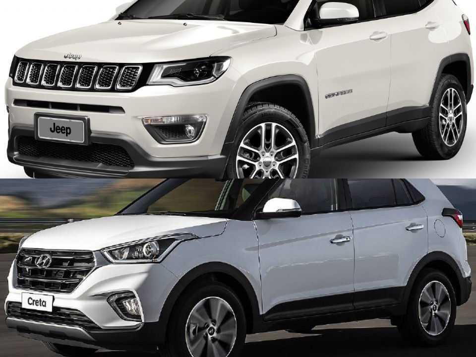 Jeep Compass e Hyundai Creta