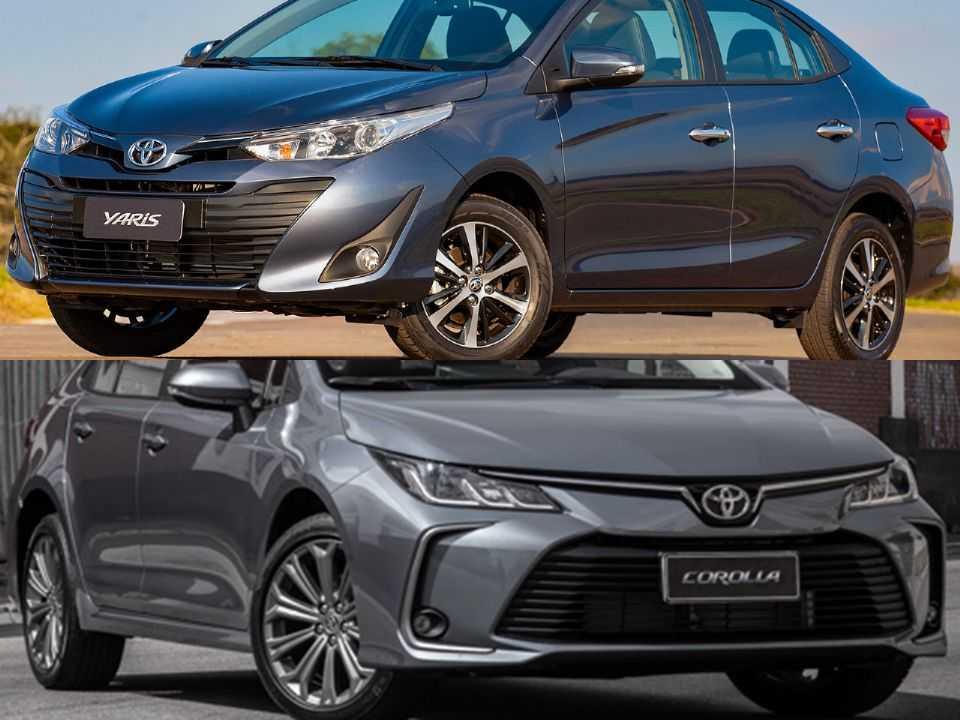 Toyota Yaris Sedã e Toyota Corolla