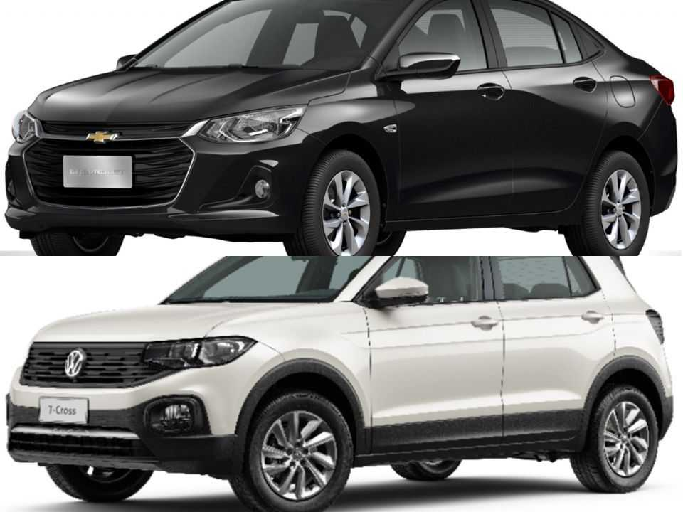Chevrolet Onix Plus e Volkswagen T-Cross