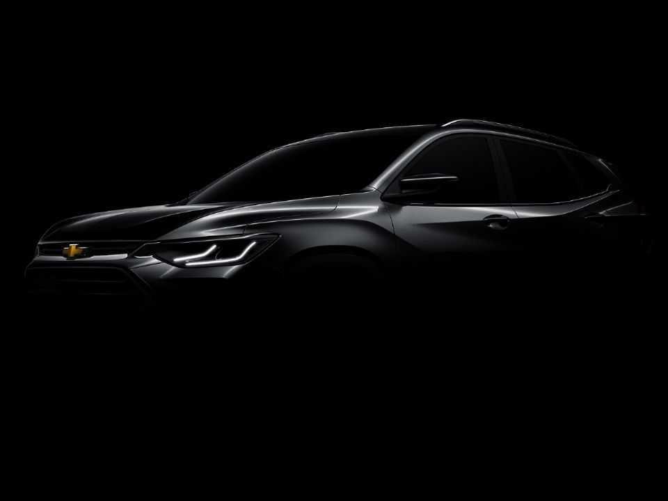 Teaser da Chevrolet antecipando o Tracker 2021, talvez seu principal lançamento para o ano que vem