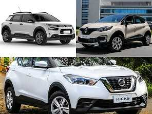 SUVs com câmbio manual: Nissan Kicks, Renault Captur ou Citroën C4 Cactus?