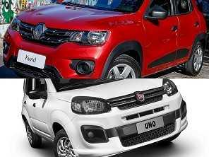 Comprar um Fiat Uno ou um Renault Kwid?