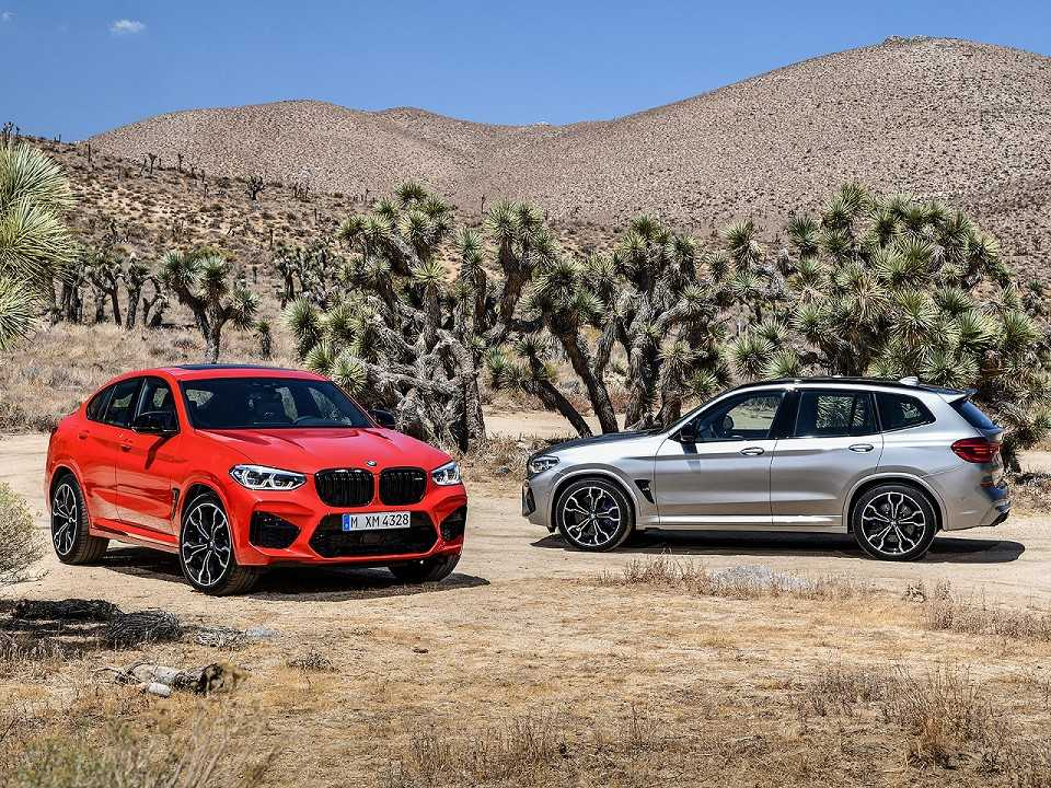 Acima os novos BMW X3 M e X4 M