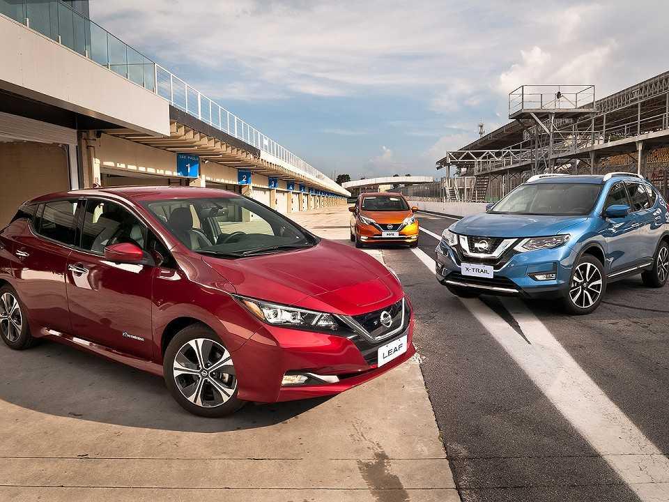 Gama de elétricos e híbridos da Nissan