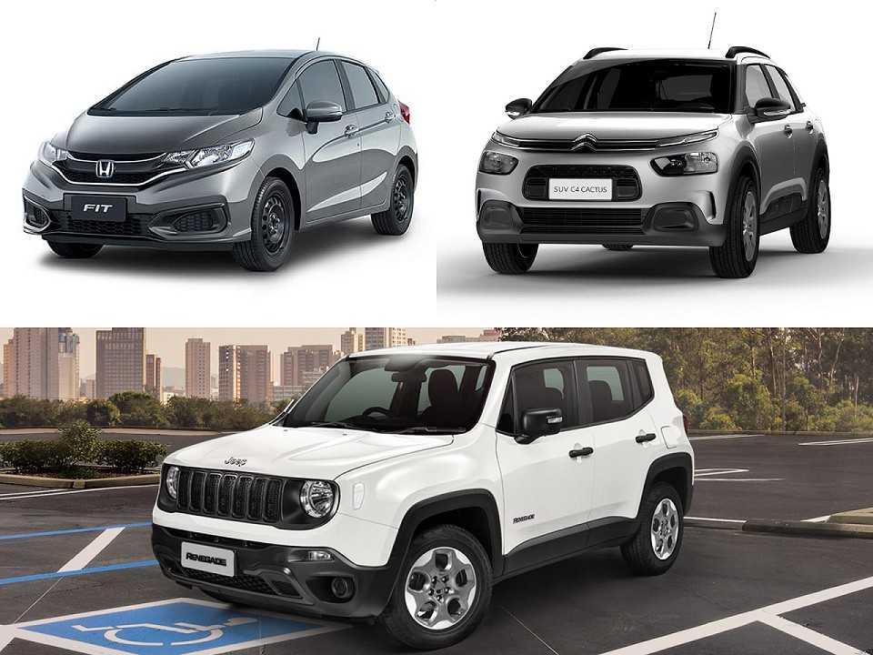 Honda Fit, Citroën C4 Cactus e Jeep Renegade