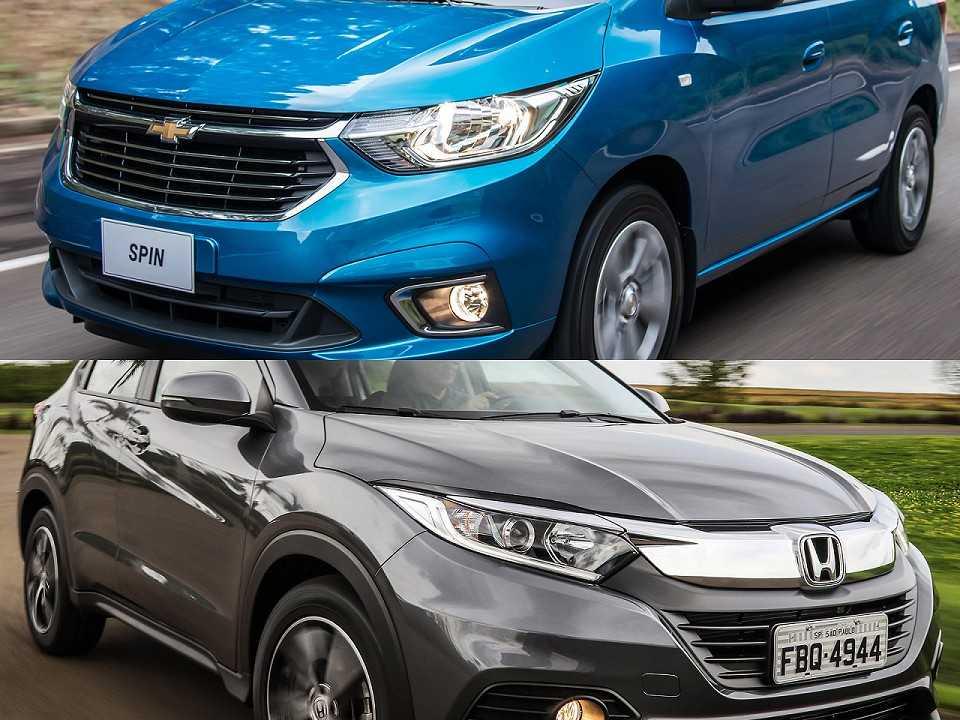 Chevrolet Spin e Honda HR-V