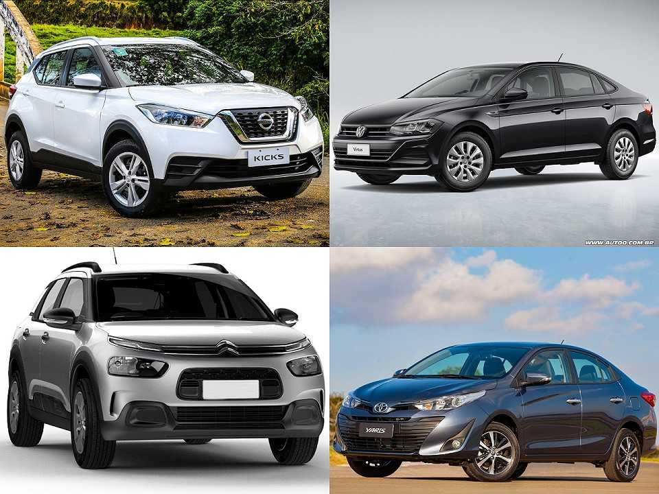 Nissan Kicks, VW Virtus, Citroën C4 Cactus e Toyota Yaris