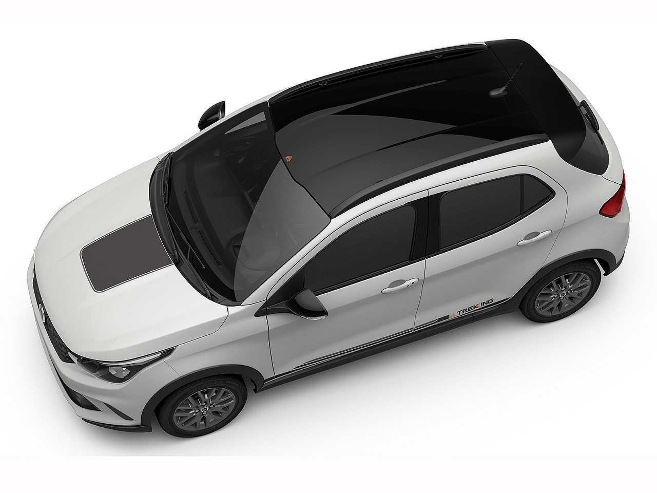 Acima a primeira imagem oficial do Fiat Argo Trekking, a inédita opção aventureira do hatch