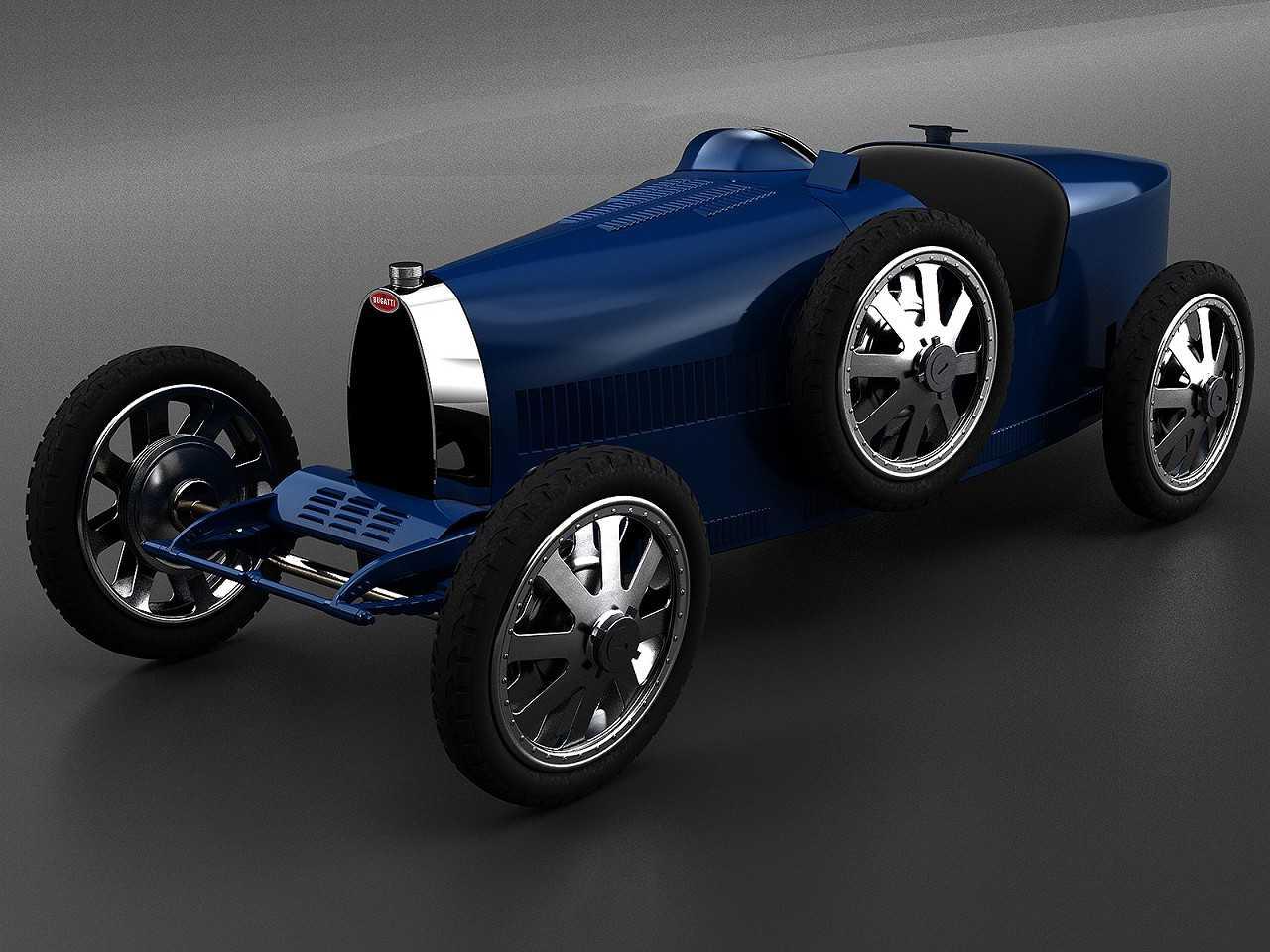 Acima o Bugatti Baby II