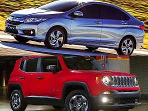 Jeep Renegade ou um Honda City, ambos 2016?