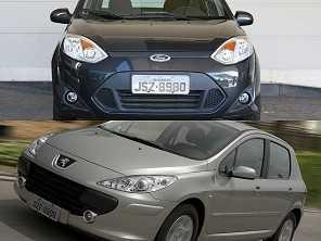Ford Fiesta Sedan 2011 ou um Peugeot 307 2008, ambos na faixa de R$ 15.000?