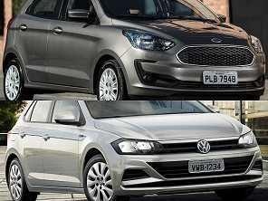 Um Ford Ka SE Plus ou um VW Polo 1.6, ambos automáticos?